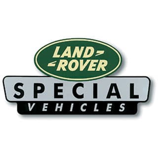 "LAND ROVER SPECIAL VEHICLES STICKER 4"" X 2 1/4"""