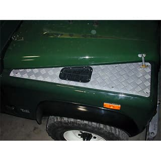 Genuine Land Rover Wing Top Protection Set in Silver for Defender