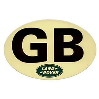 Land Rover Gb Oval Sticker 6 5/8""