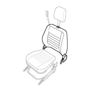 Lh Seat Back Assembly Twill Vinyl 97 NAS 90 Sw
