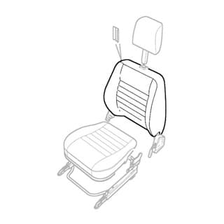 Seat Back Cover Twill Vinyl 97 NAS 90 Sw