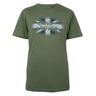 Union Flag Graphic T-Shirt - Green-Lg