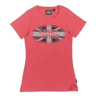 UNION FLAG GRAPHIC T-SHIRT-PINK-SIZE 8