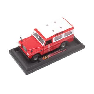 MODEL BURAGO 1:24 LAND ROVER RED