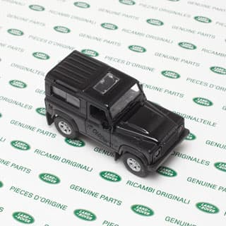 "4.75"" Land Rover Defender 90 Black  By Welly"