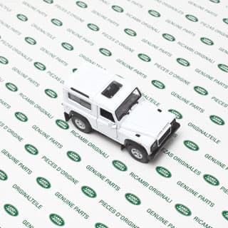 "4.75"" LAND ROVER DEFENDER 90 WHITE  BY WELLY"