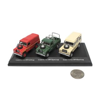 Cararama 1:72 Land Rover 3-Car Set w/Cas