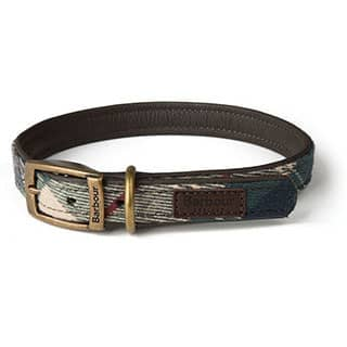 BARBOUR TARTAN DOG COLLAR LARGE