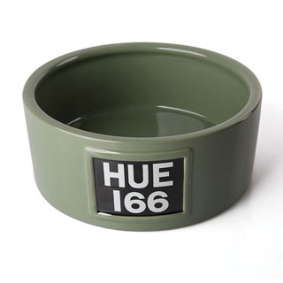 HUE CERAMIC DOG BOWL - GREEN