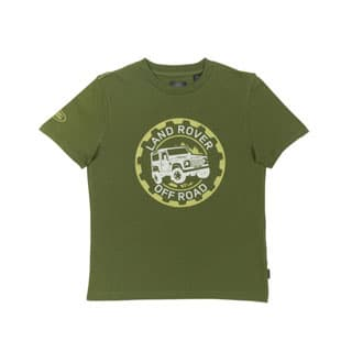 LAND ROVER KID'S OFF ROAD TEE GRN 3-4 YR