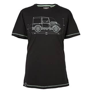 HUE GRAPHIC T- SHIRT - BLACK - LG