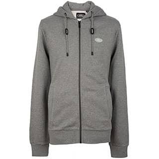 Full Zip Hoodie - Grey Marl - Lg
