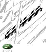 Rail - LHF Door Top Slide Defender 90/110