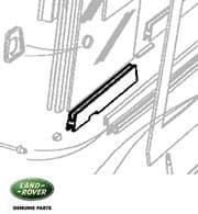 Slide LHF Door Top Glass Outer Defender