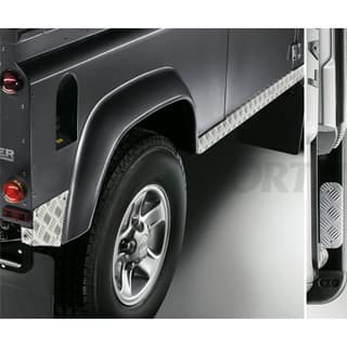 CHEQUER PLATE SET DEFENDER 90 BLACK