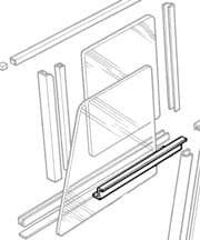 SPACER  WINDOW TRACK BOTTOM - NO LONGER AVAILABLE, PLEASE CALL FOR OPTIONS