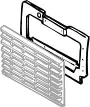 ALUMINUM RADIATOR PANEL NAS 90 '94-'95, ROW WO AIR CONDITIONING FROM '92 ON