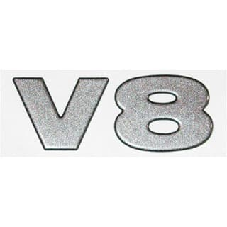"DECAL ""V8"" FRONT WING DEFENDER NAS"