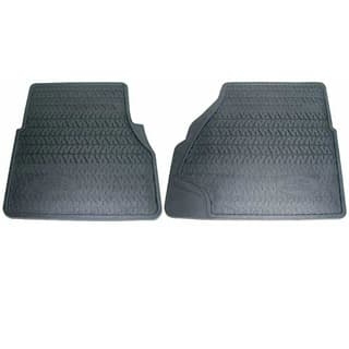 GENUINE RUBBER MAT SET FRONT PAIR DEFENDER BLACK
