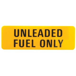 LABEL UNLEADED FUEL