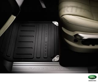 FLOOR MAT SET BLACK RUBBER RANGE ROVER L322 LHD - SET OF 4