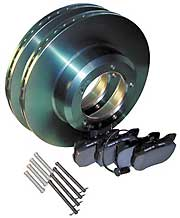 Pads & Rotors Rear  Set by Land Rover for Range Rover Classic