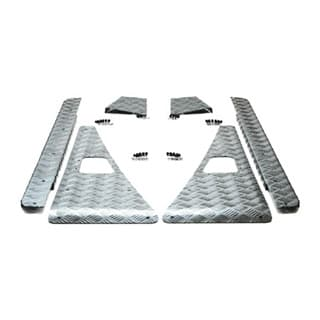 CHEQUER PLATE COMPLETE KIT - D90 SILVER