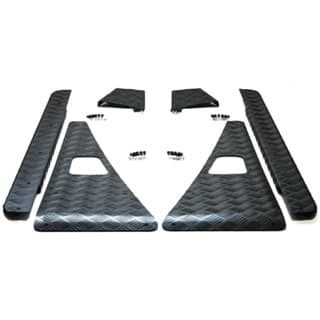 CHEQUER PLATE COMPLETE KIT- D110 BLACK UPTO 2006