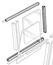 WINDOW TRACK KIT FRONT DOOR TOP: SERIES II-III