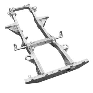 CHASSIS ONLY GALVANIZED NAS 90 V8 1994 - 1997