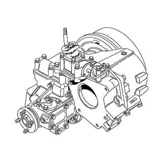 REBUILT TRANSFER BOX 1.214:1 LT230T