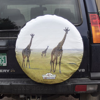 Tire Cover Giraffes Full Color Large