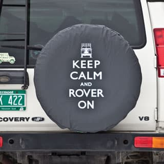 TIRE COVER KEEP CALM ROVER ON STANDARD 29/30""