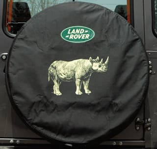 Tire Cover, RHino W Land Rover Logo, Standard