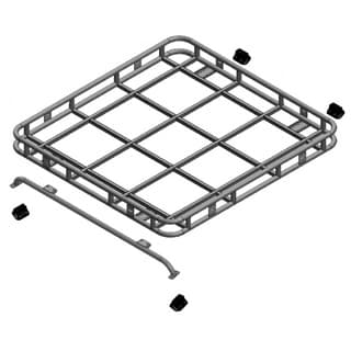 Safety Devices Roof Rack Full D90 SW Roll Cage Mount