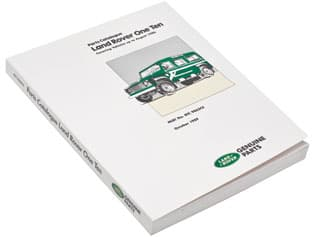 Parts Manual Defender 110 Up To Aug 1986