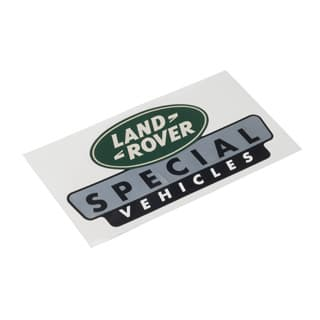 "LAND ROVER SPECIAL VEHICLES STICKER 7 1/2"" X 4"""