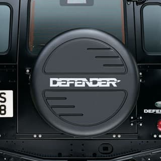 MOULDED TIRE COVER DEFENDER LOGO