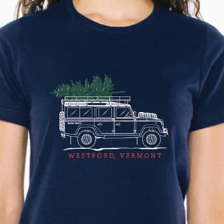 T-SHIRT DEF 110 HOLIDAY NAVY WOMEN LARGE