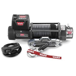 WINCH WARN 9,500 LB w/SYNTHETIC ROPE