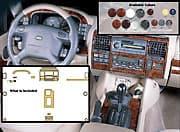 Deluxe Trim Kit Discovery II Dark Burl 25 Pcs Set