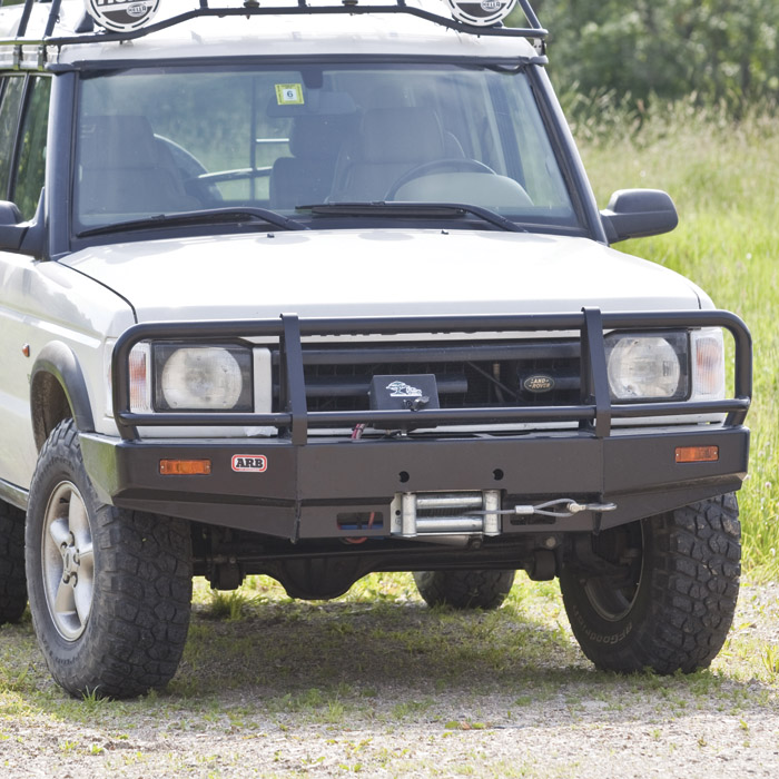 Winch Bumper With Led Lights By Rovers North For Discovery: WINCH BAR DISCOVERY II 99-02 SRS COMPATABLE, 3432060