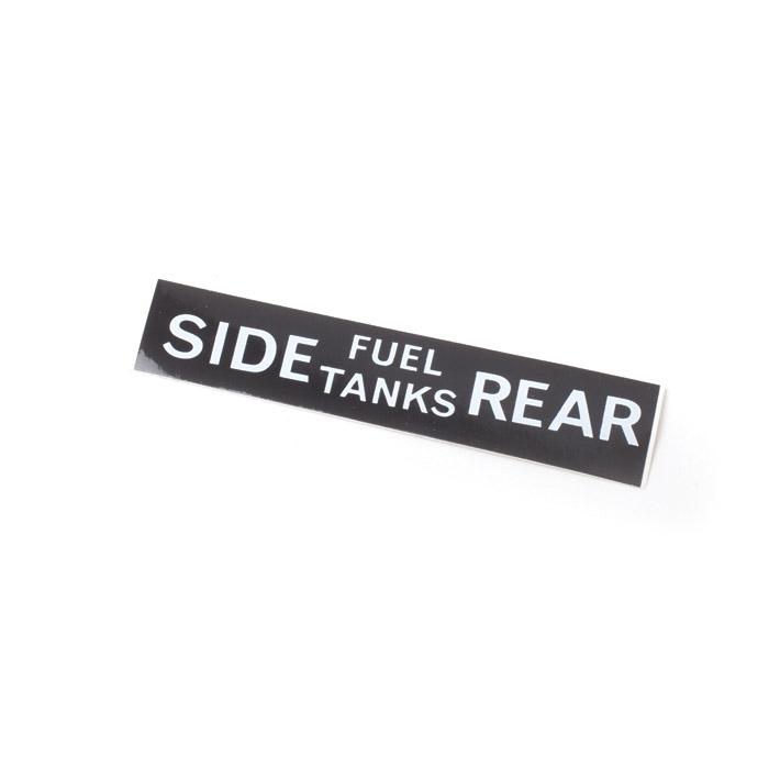 LABEL - SIDE / REAR FUEL TANK