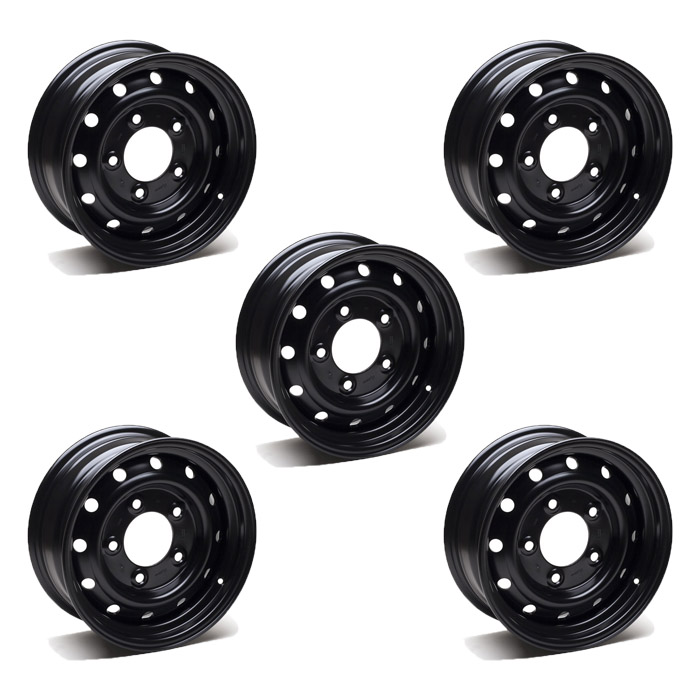"SET OF 5 WOLF 16"" HD ROAD WHEELS - GENUINE"