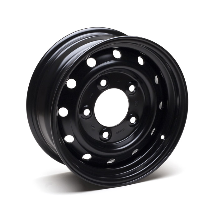 WOLF HEAVY DUTY STEEL WHEEL IN BLACK - GENUINE