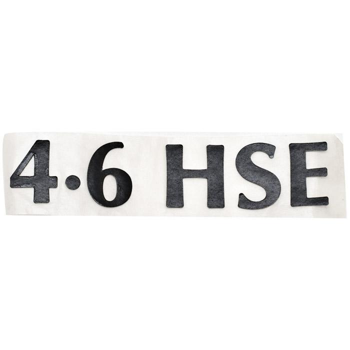 "DECAL  ""4.6HSE"" BASALT RANGE ROVER P38A 4.6L"