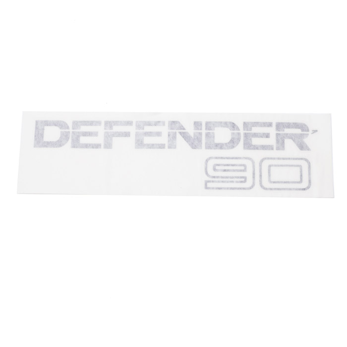 "DECAL ""DEFENDER 90"" REAR CHARCOAL"