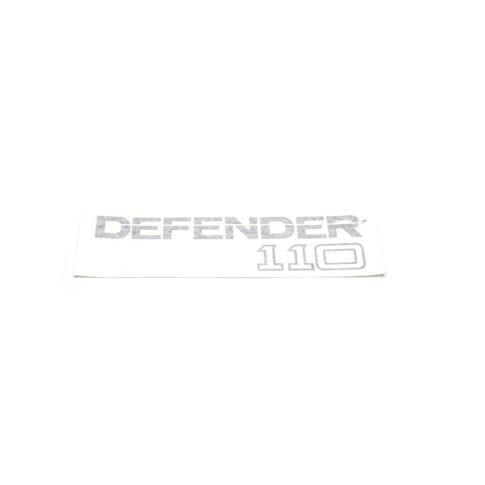 "DECAL ""DEFENDER 110"" LIGHT GREY"