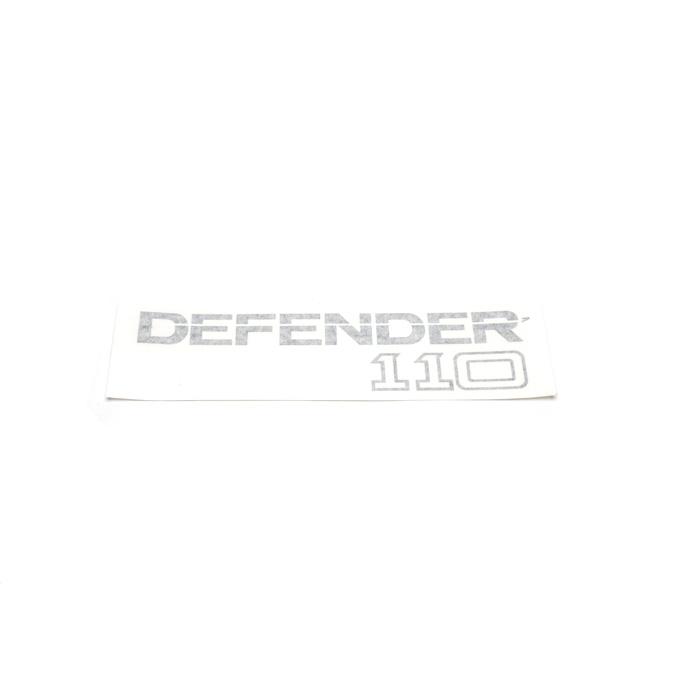 "DECAL ""DEFENDER 110"" LIGHT GREY"