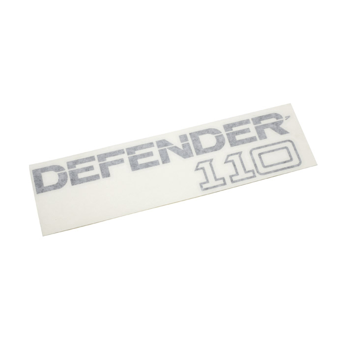 "DECAL ""DEFENDER 110"" CHARCOAL"